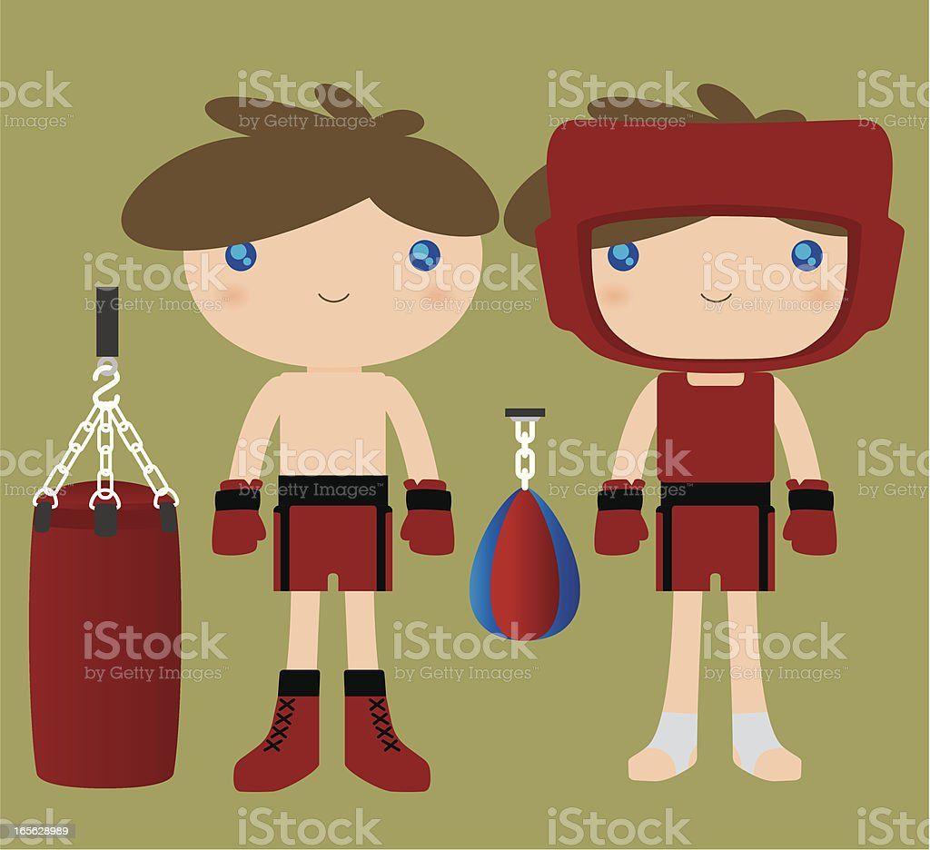 Cute Boxer royalty-free stock vector art