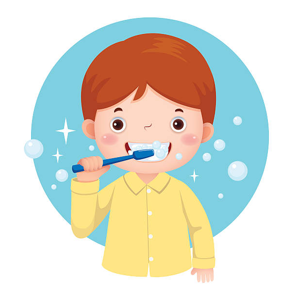 Brushing Teeth Clip Art, Vector Images & Illustrations ...
