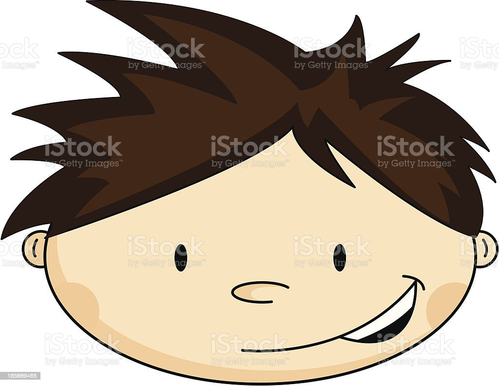 Cute Boys Head royalty-free stock vector art