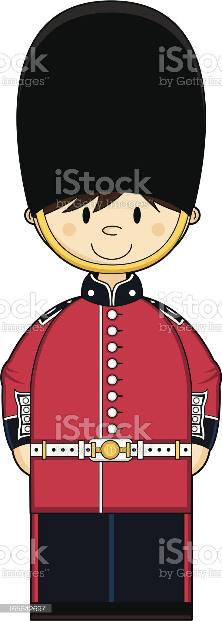 Cute British Royal Guard royalty-free stock vector art