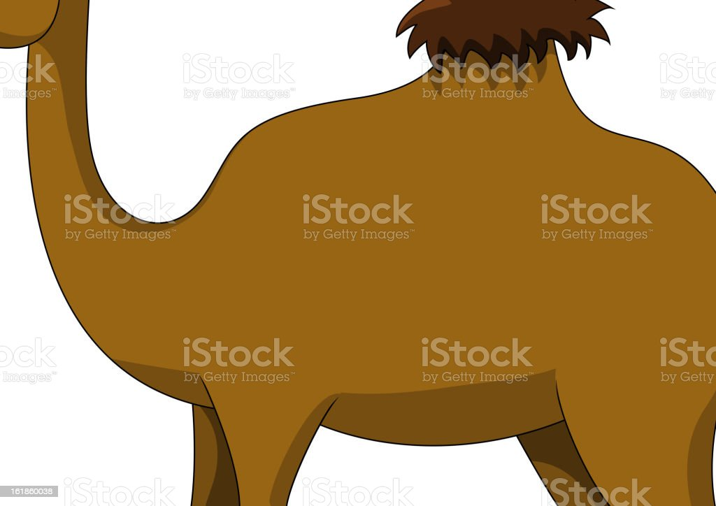 cute brown camel cartoon royalty-free stock vector art