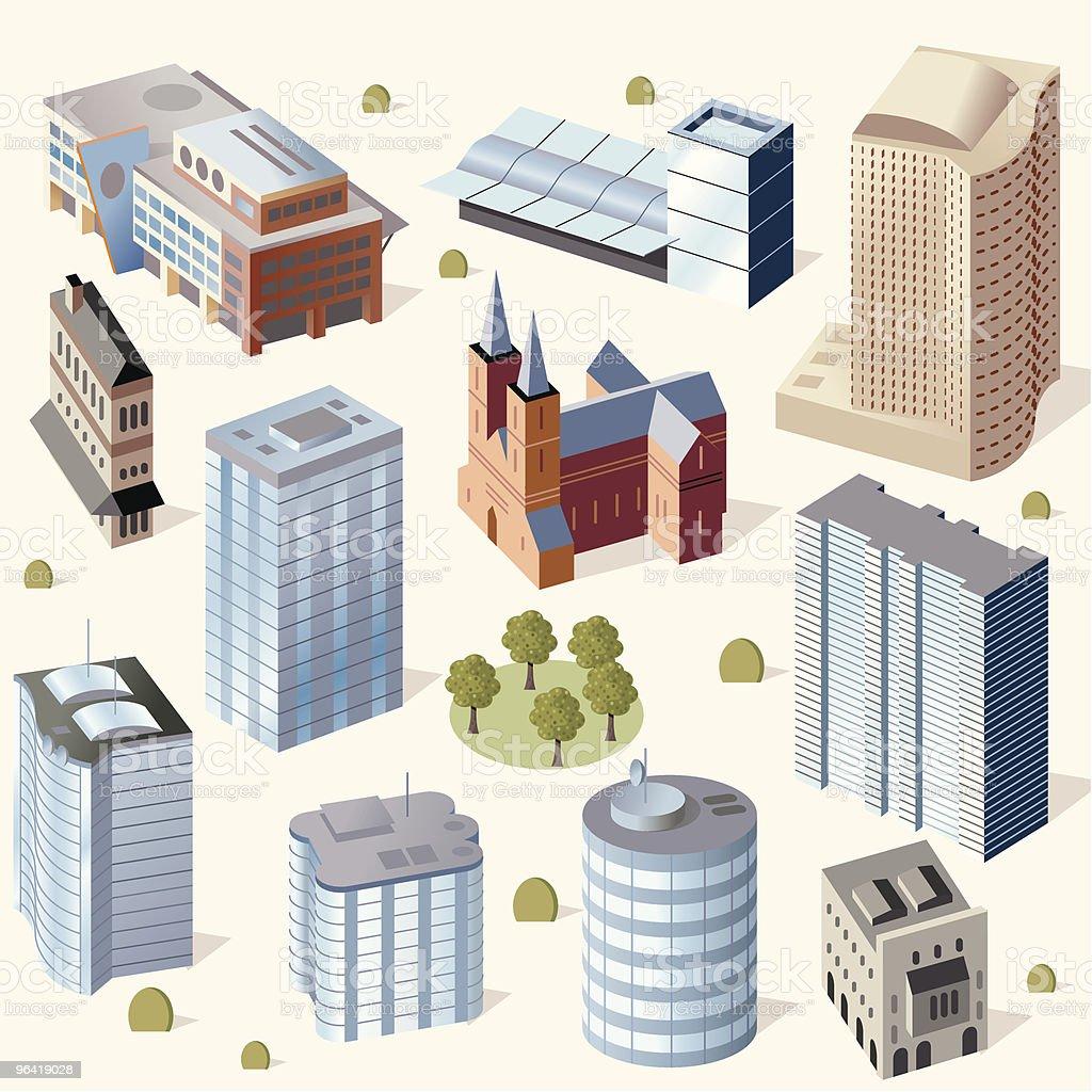 Cute Buildings #2 royalty-free stock vector art