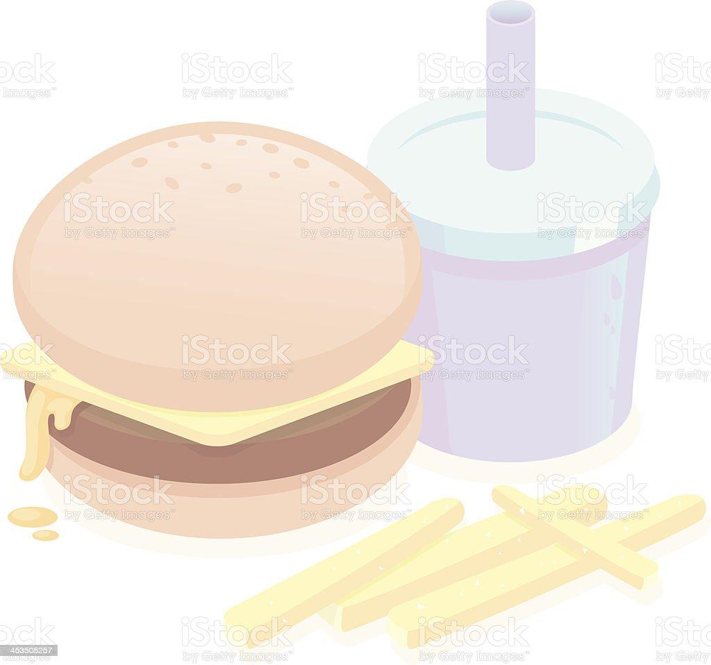 Cute Burger vector art illustration