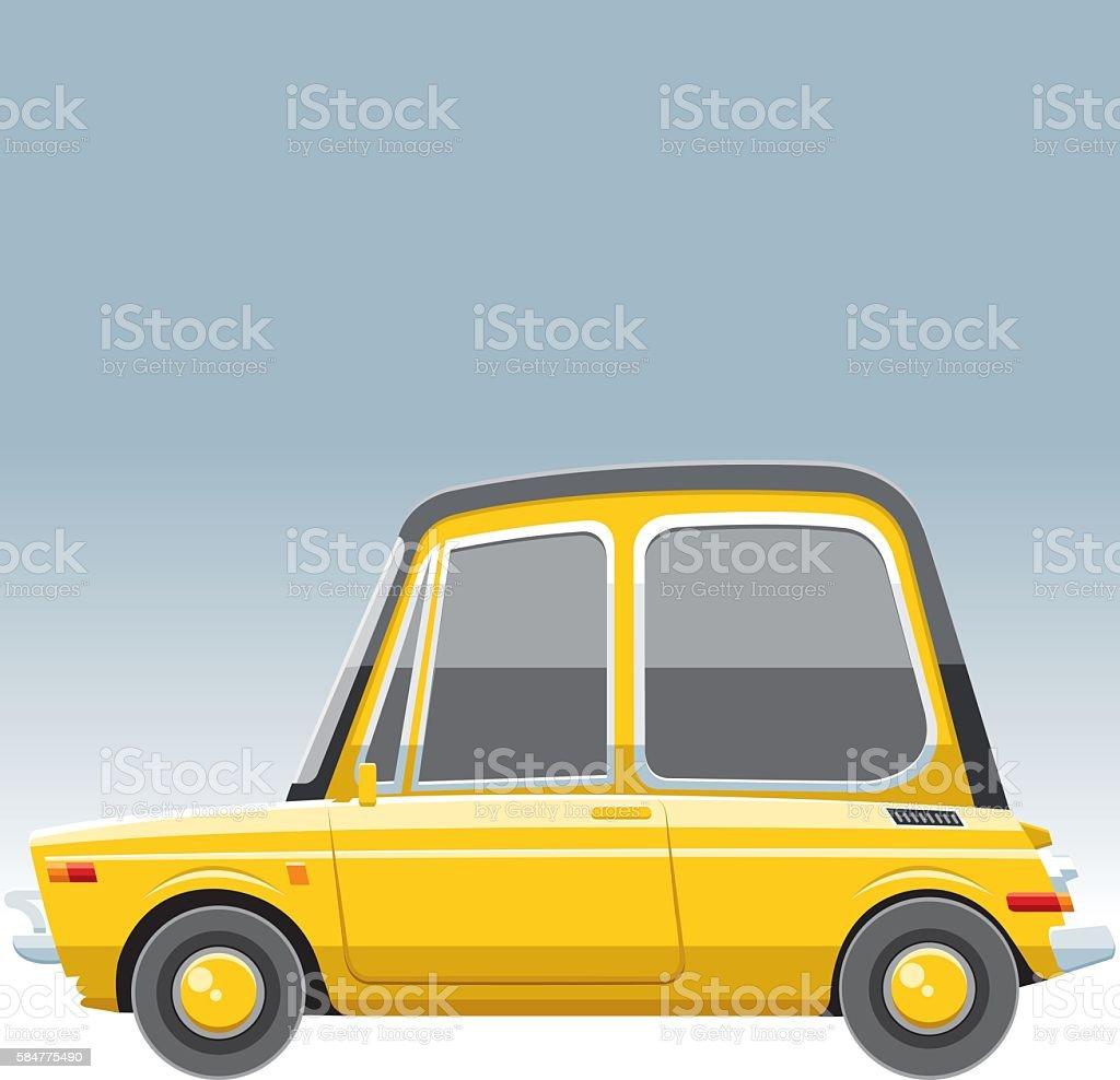 Cute car vector art illustration