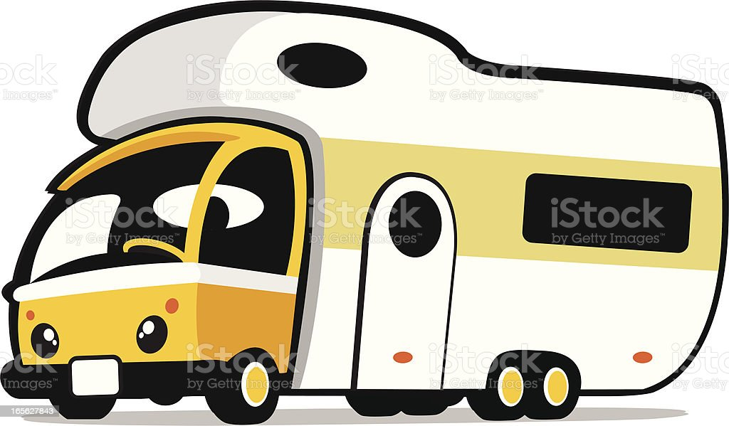 cute caravan royalty-free stock vector art