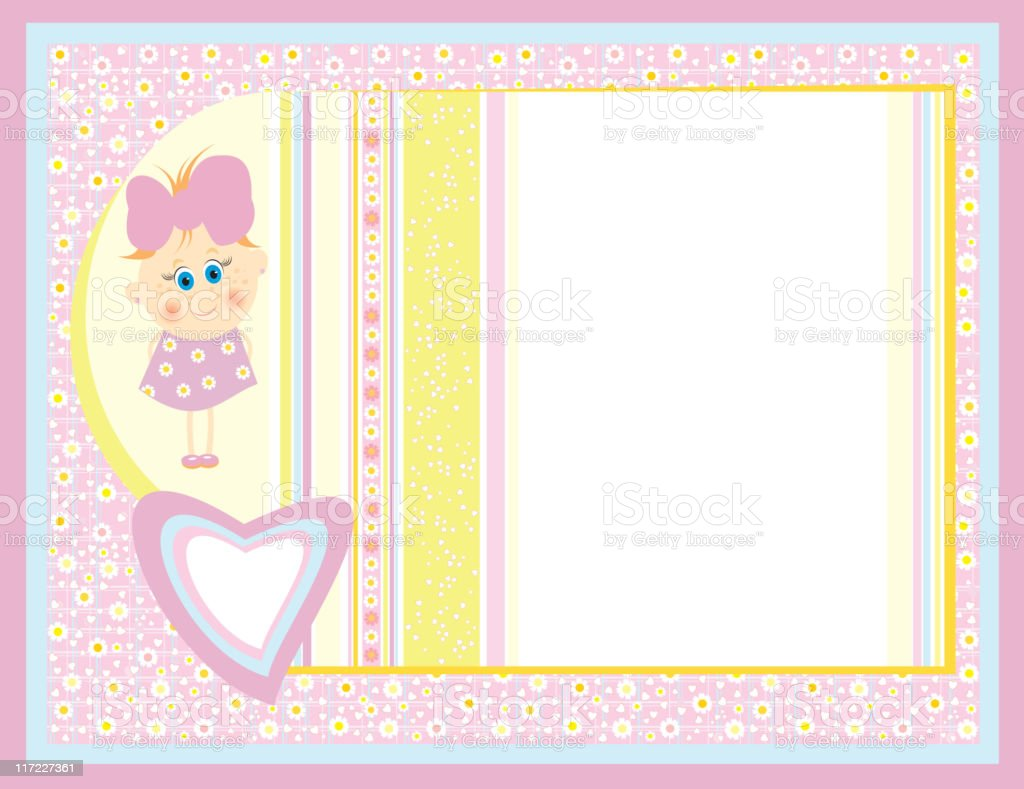 Cute card for small girl. royalty-free stock vector art