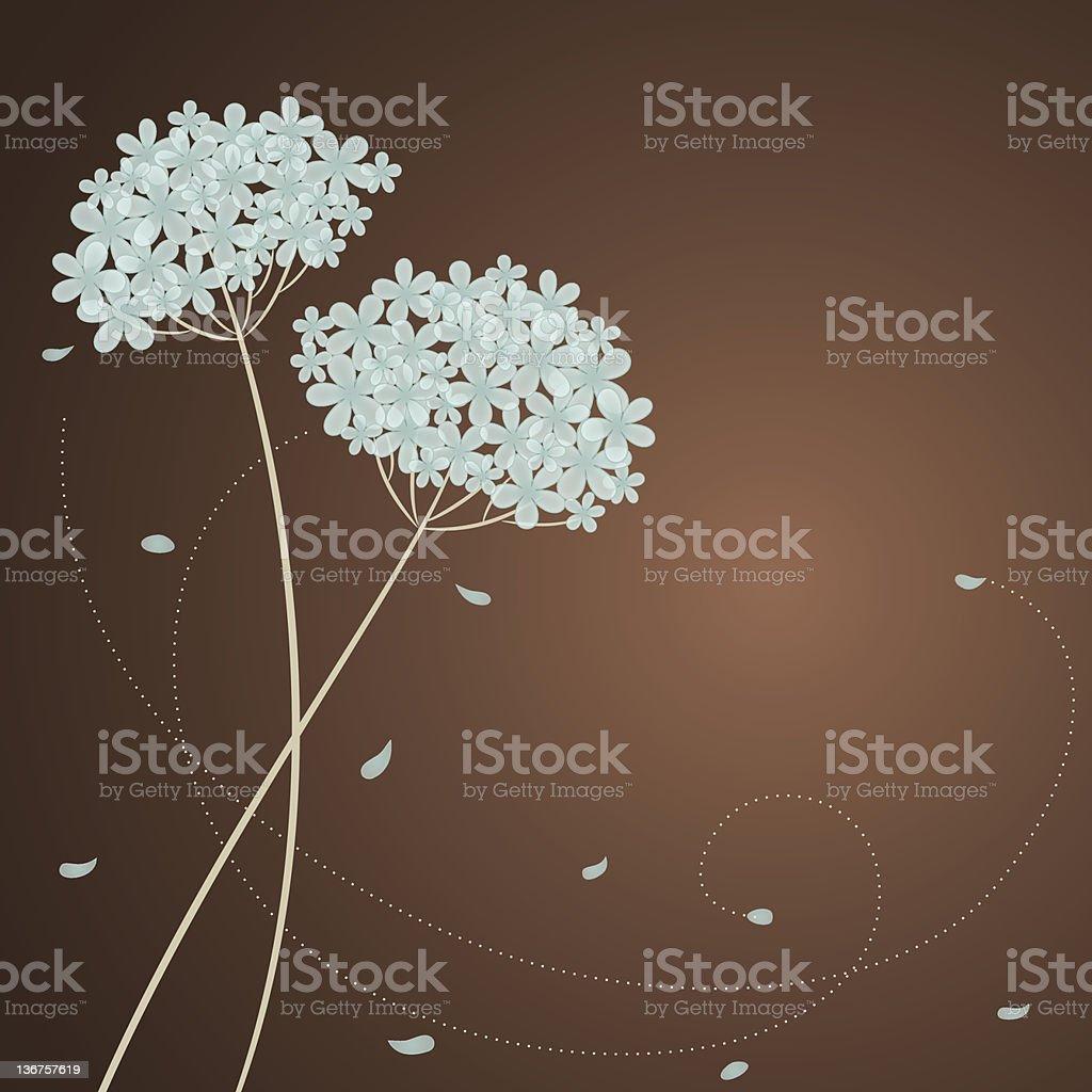 Cute card with blue hydrangea royalty-free stock vector art