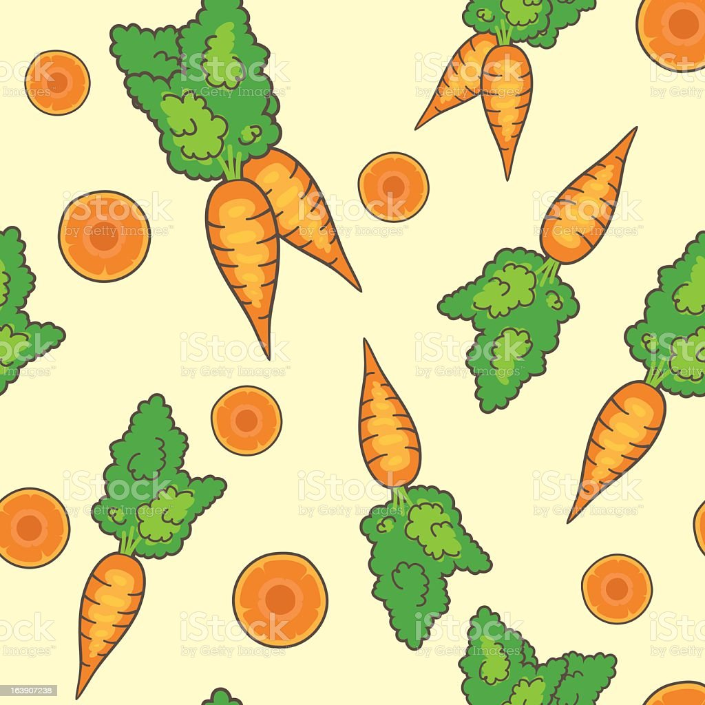Cute Carrots Seamless Pattern royalty-free stock vector art