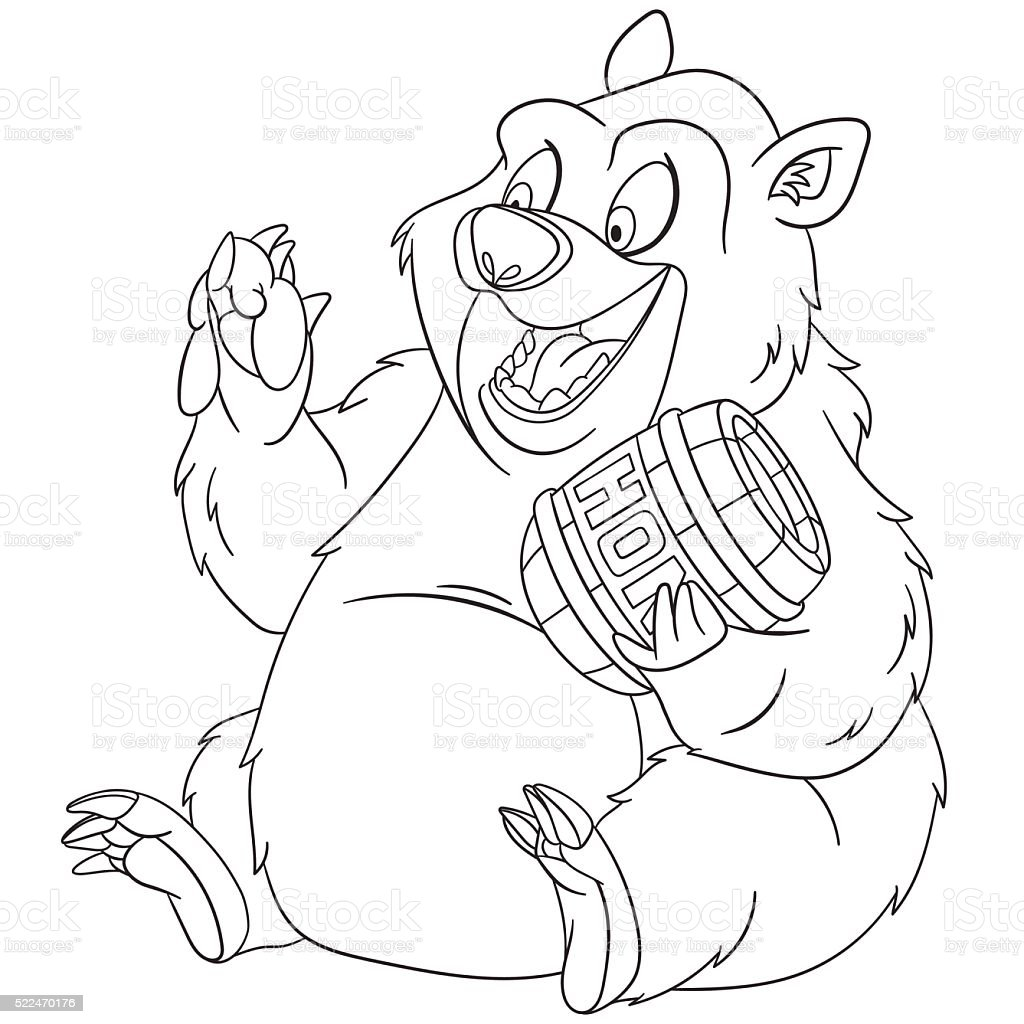 cute cartoon bear vector art illustration