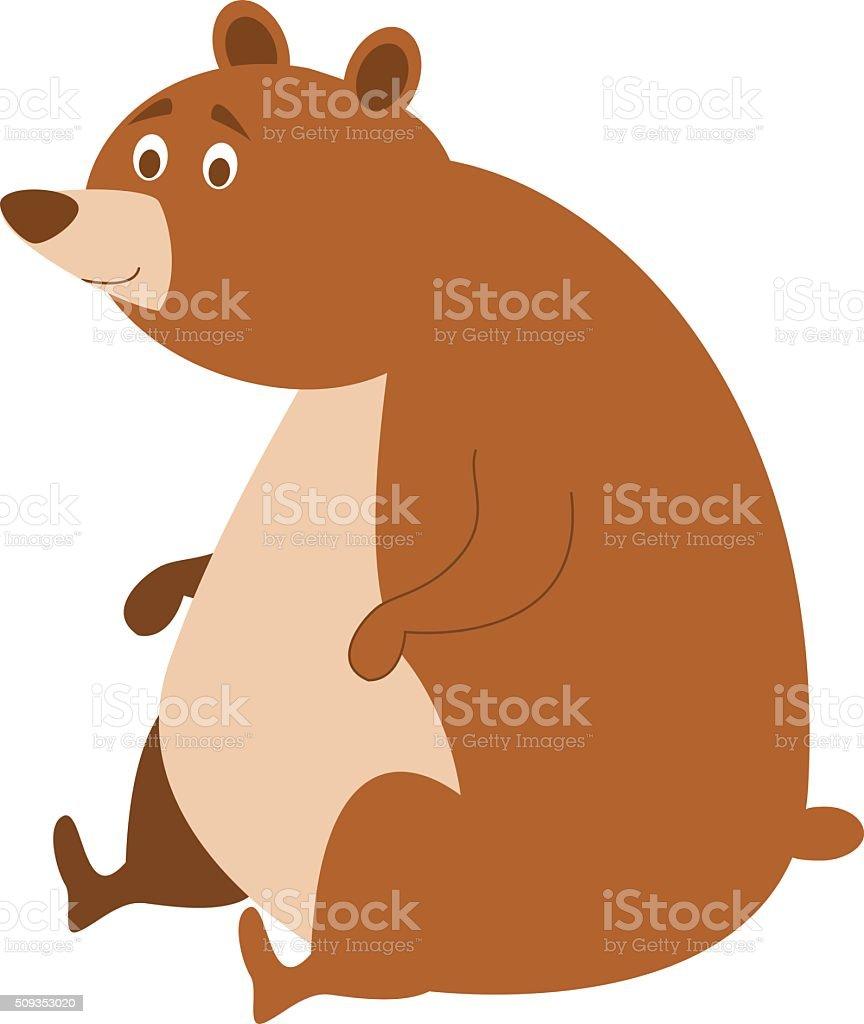 Cute cartoon bear vector illustration vector art illustration
