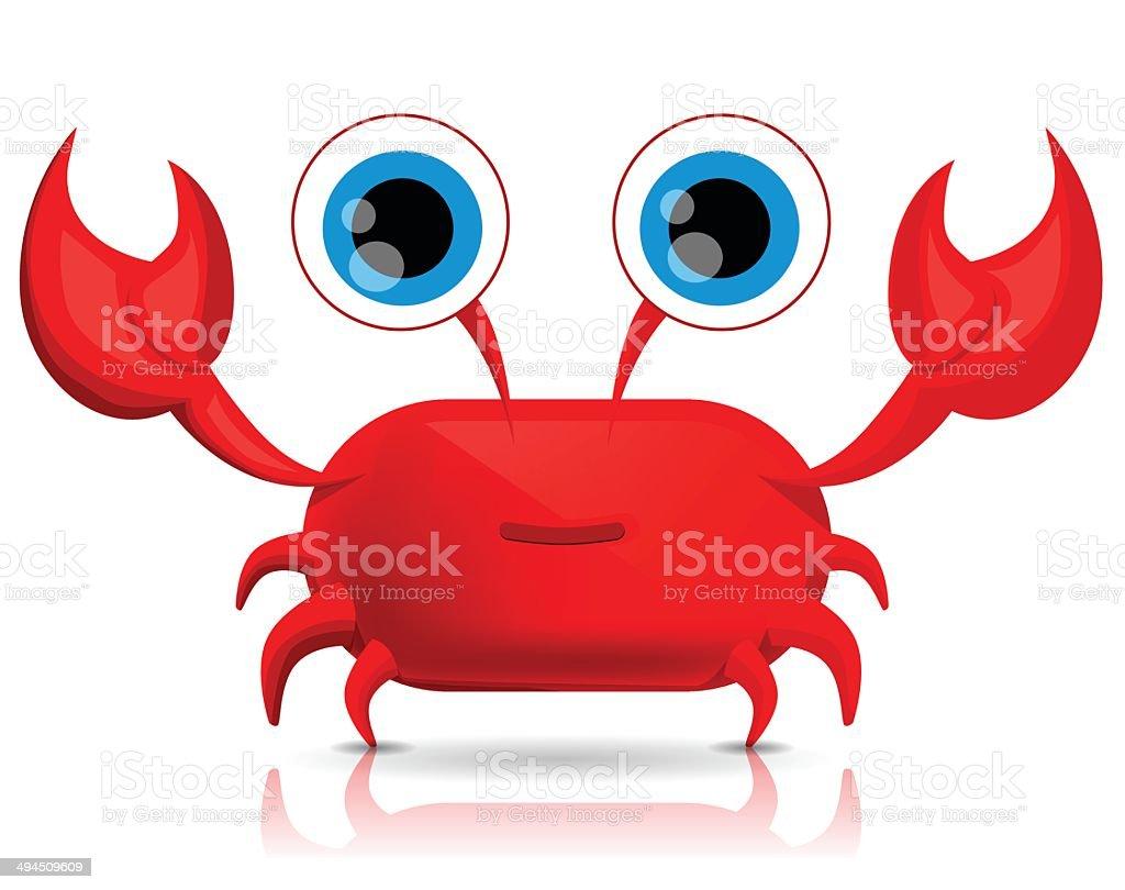 Mignon dessin animé crabe stock vecteur libres de droits libre de droits