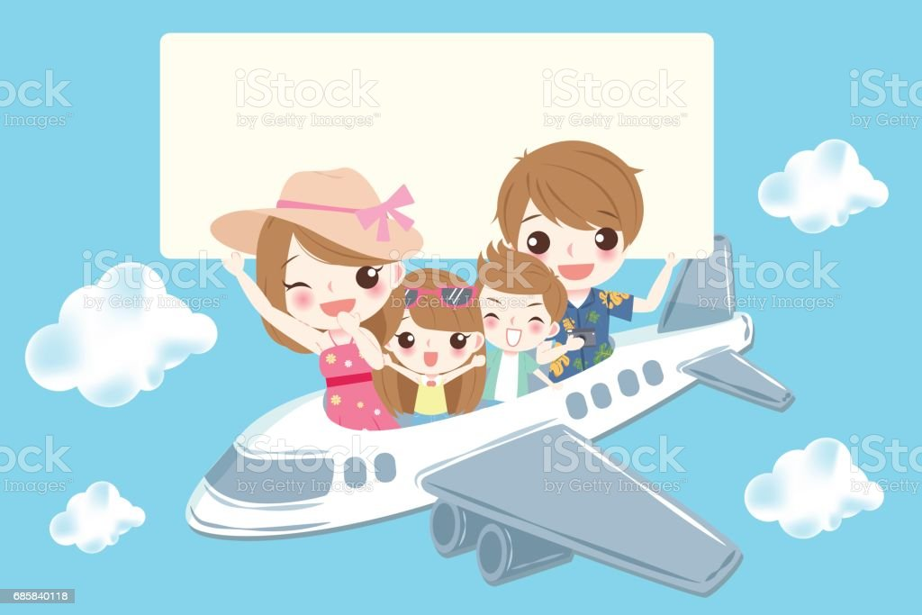 cute cartoon family vector art illustration