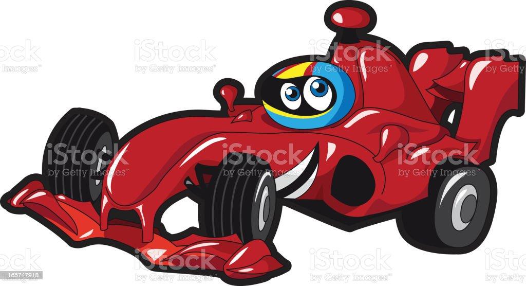 mignon dessin anim voiture de course de formule 1 stock vecteur libres de droits libre de