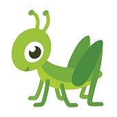 Cute cartoon grasshopper