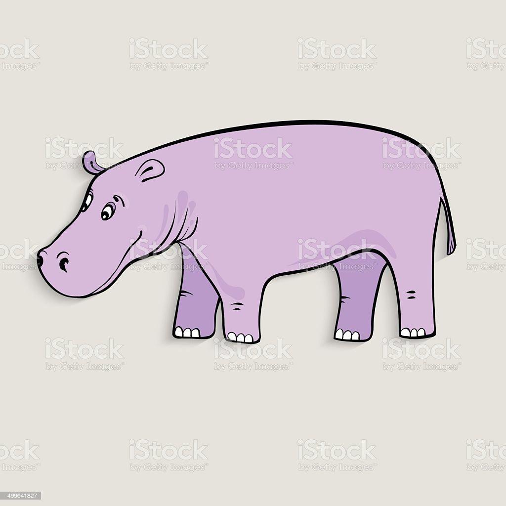 cute cartoon hippopotamus royalty-free stock vector art