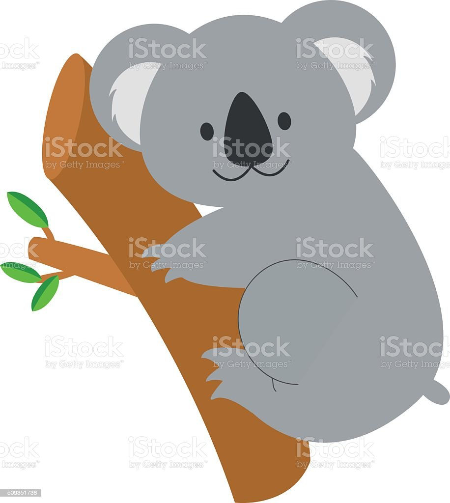Cute cartoon koala vector illustration vector art illustration