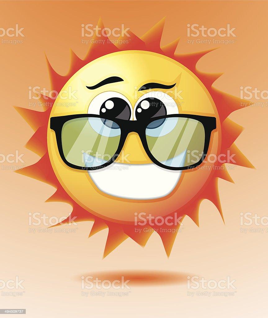 Mignon dessin animé soleil stock vecteur libres de droits libre de droits