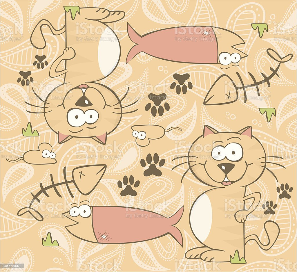 Cute cat background royalty-free stock vector art