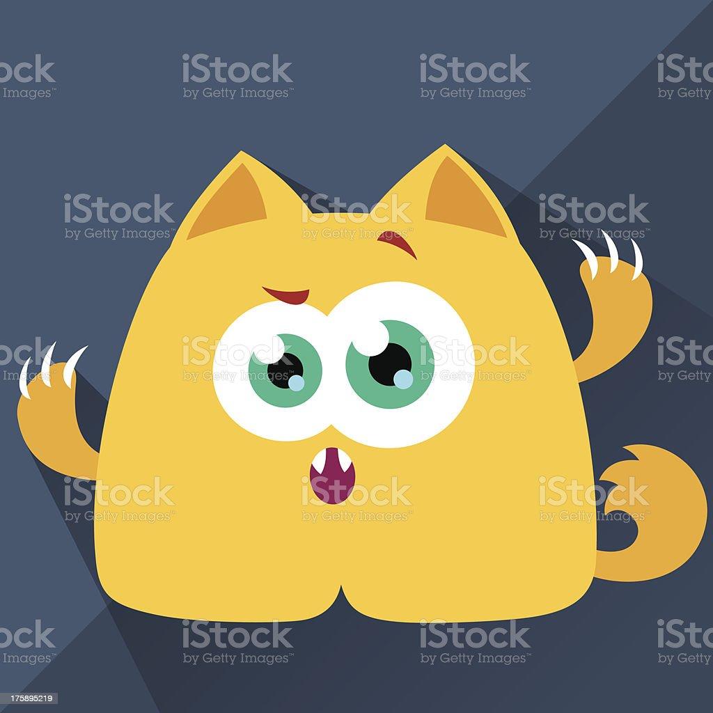 Cute Character - Foxy vector art illustration