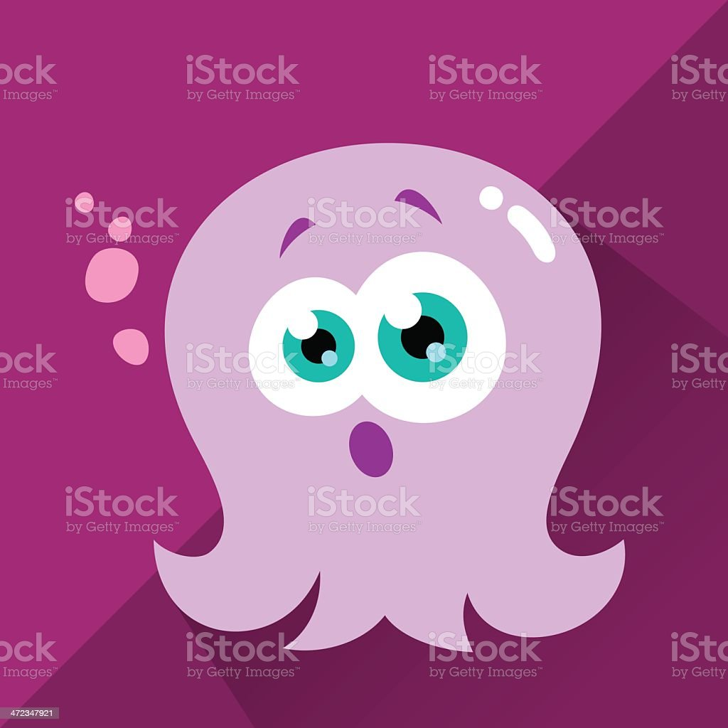 Cute Character - Octo vector art illustration