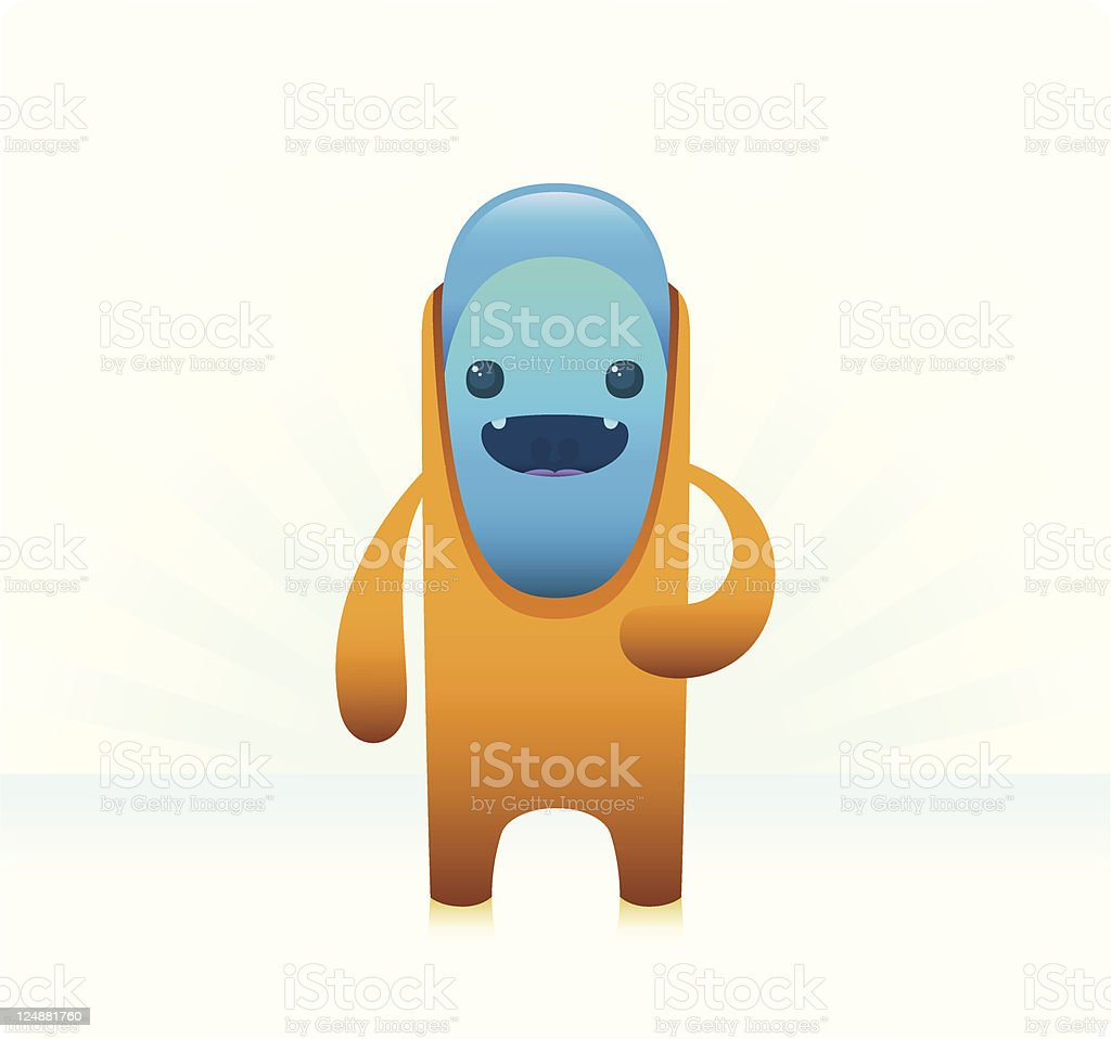 Cute Character With Protective Suit royalty-free stock vector art
