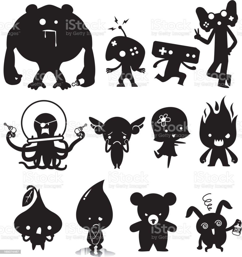 Cute characters royalty-free stock vector art