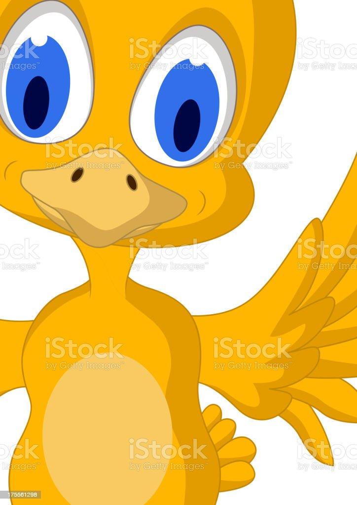 Cute chick cartoon royalty-free stock vector art