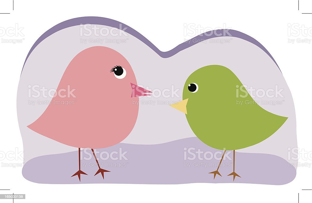 Cute Chicks royalty-free stock vector art