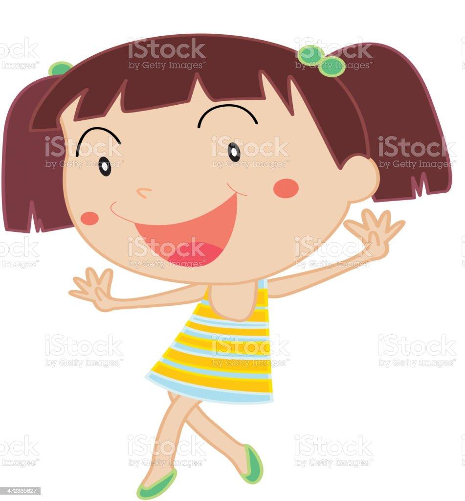 Cute child vector art illustration
