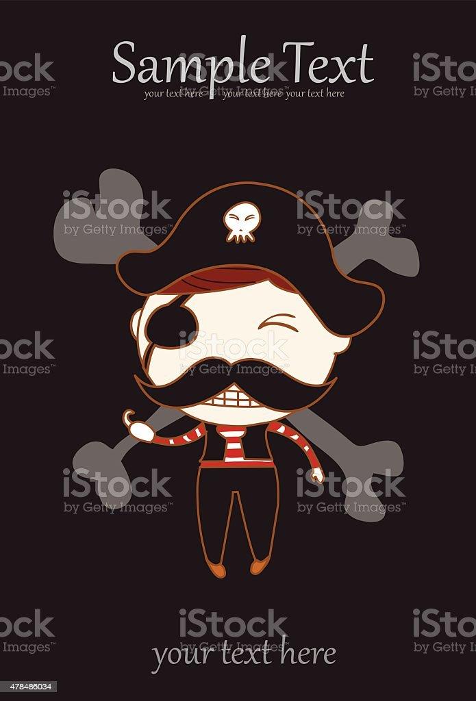 Słodkie dzieci Pirat stockowa ilustracja wektorowa royalty-free