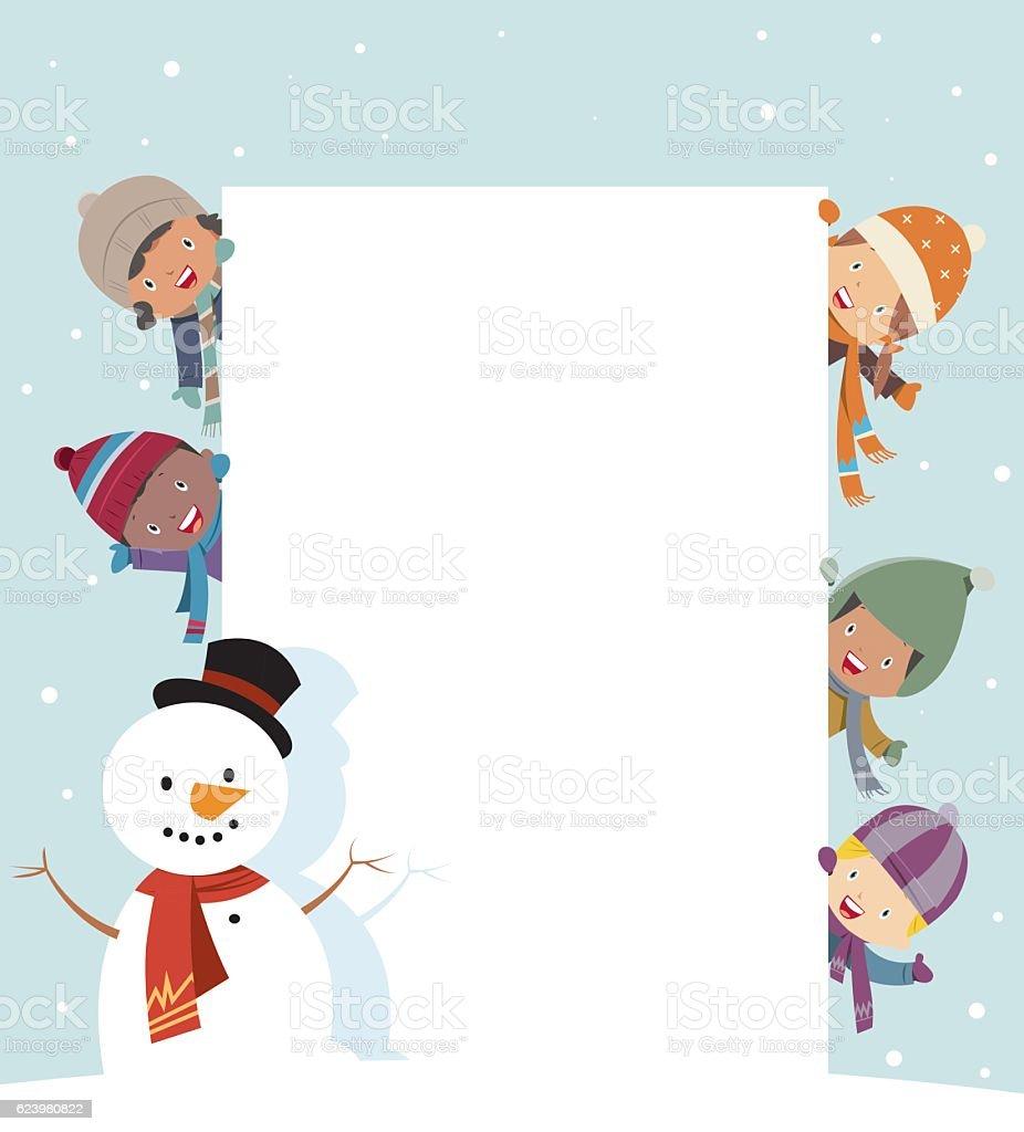 Cute Christmas card vector art illustration