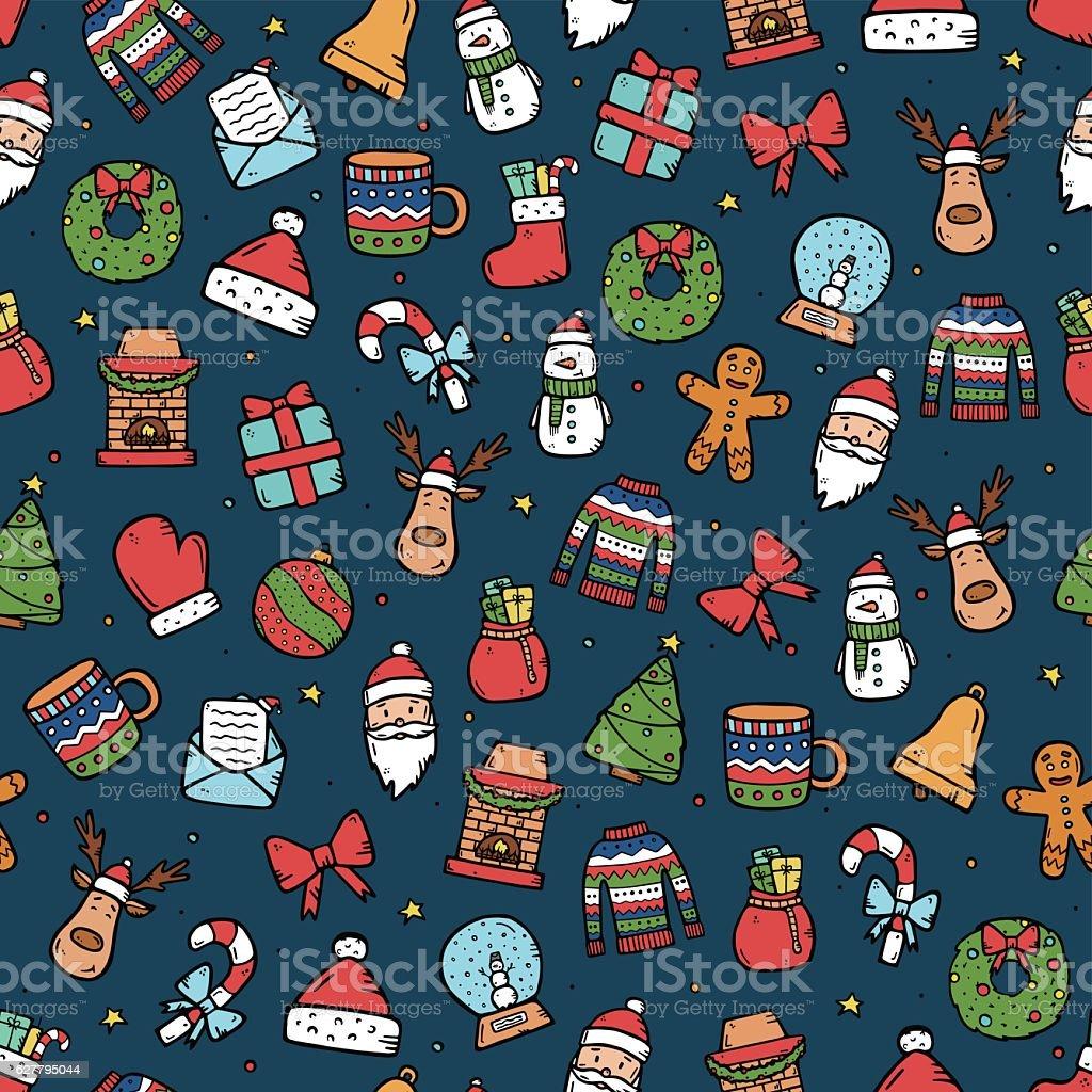 Adorable motif de Noël stock vecteur libres de droits libre de droits
