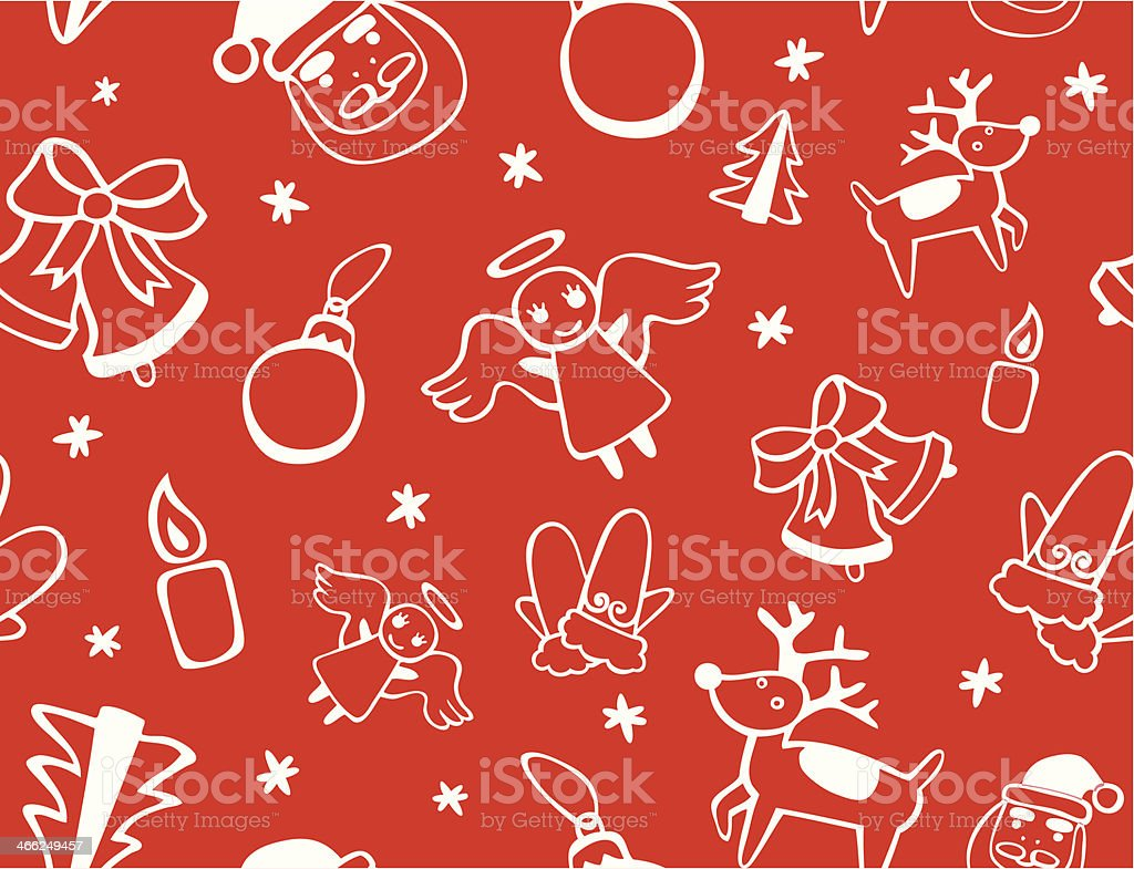 Cute Christmas Seamless Background royalty-free stock vector art
