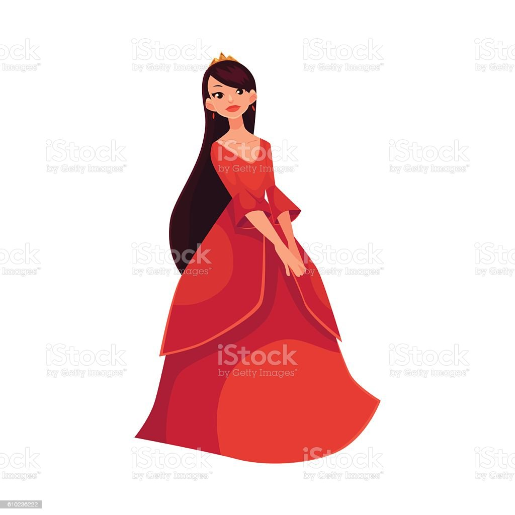 Cute collection of beautiful princess vector art illustration