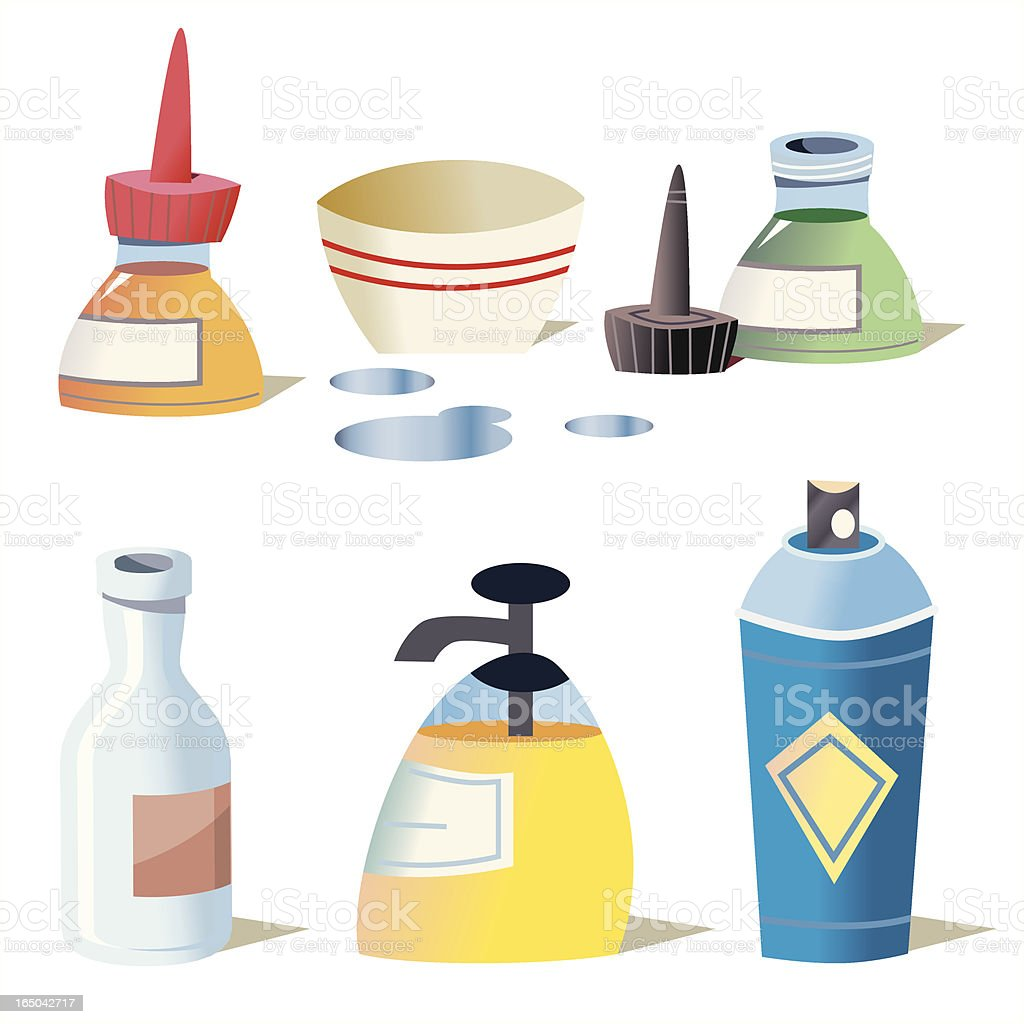 Cute Containers royalty-free stock vector art
