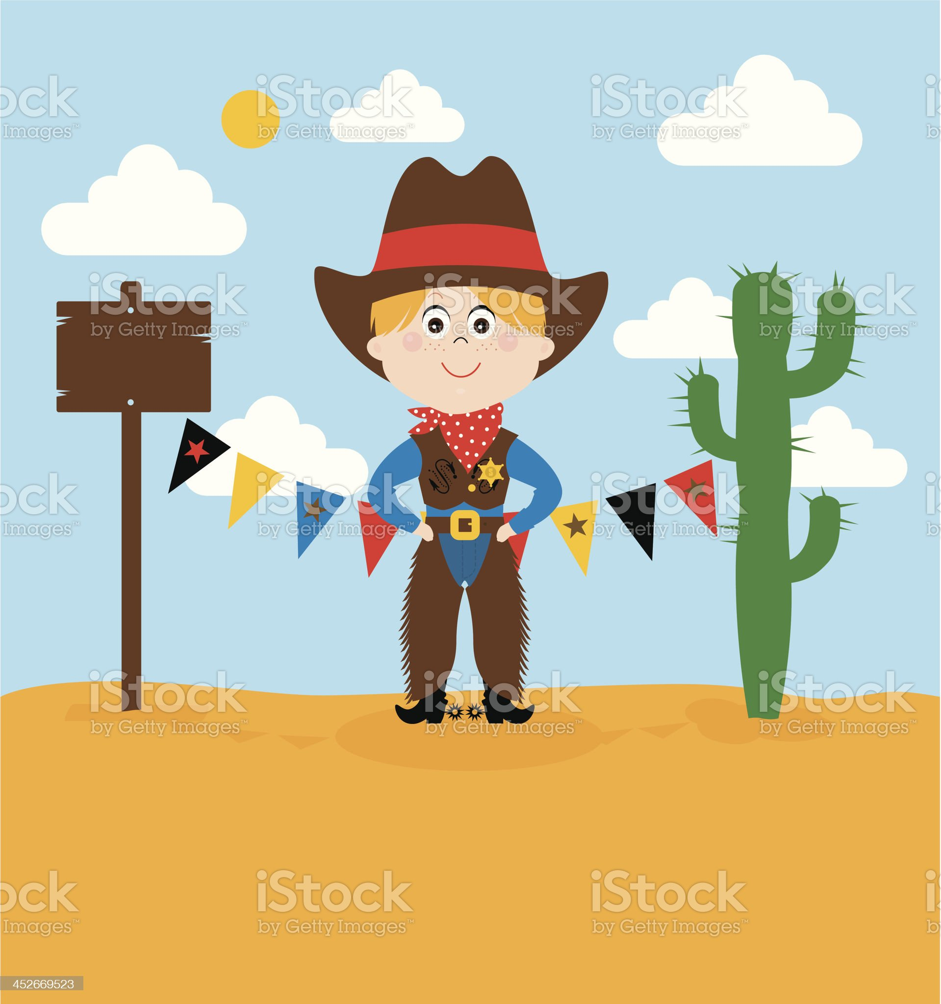 Cute Cowboy royalty-free stock vector art
