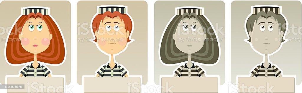 Cute criminals royalty-free stock vector art
