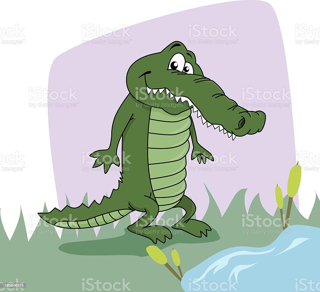 Cute Croco royalty-free stock vector art