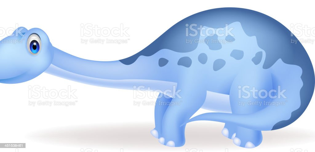 Cute dinosaur cartoon royalty-free stock vector art