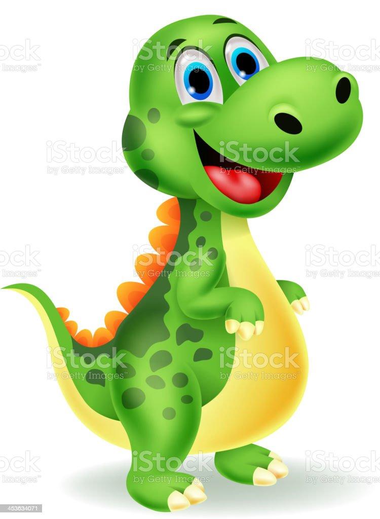Cute dinosaur cartoon royalty-free stock vector art