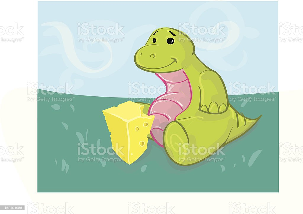 Cute Dinosaur royalty-free stock vector art
