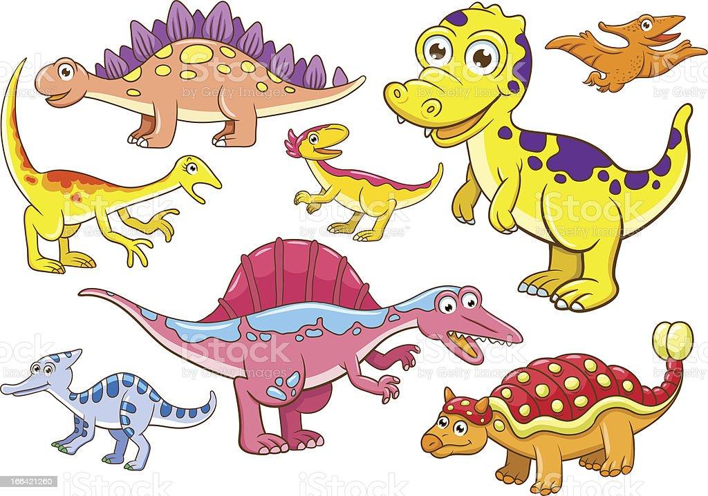 Cute dinosaurs royalty-free stock vector art