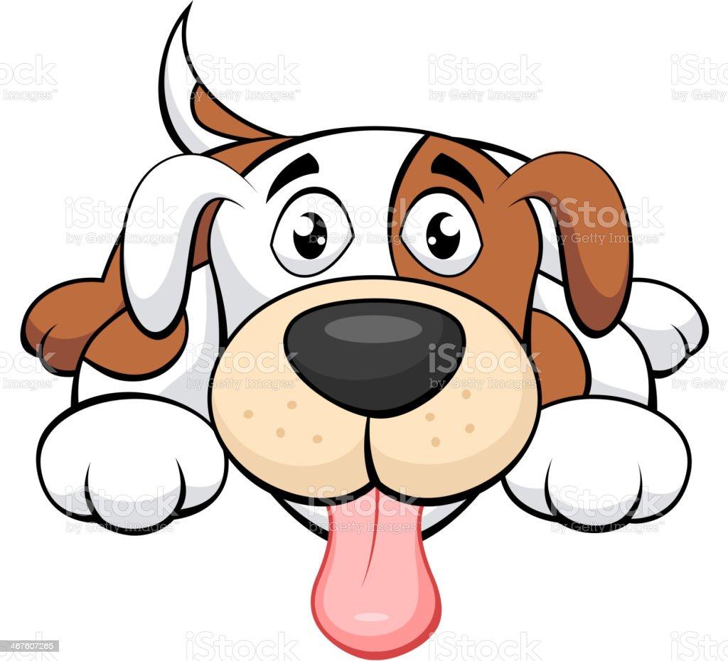 Cute dog cartoon vector art illustration