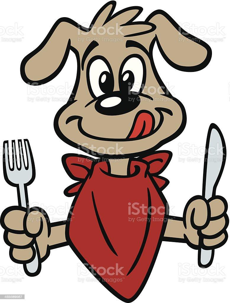 Dog Eating Clip Art, Vector Images & Illustrations