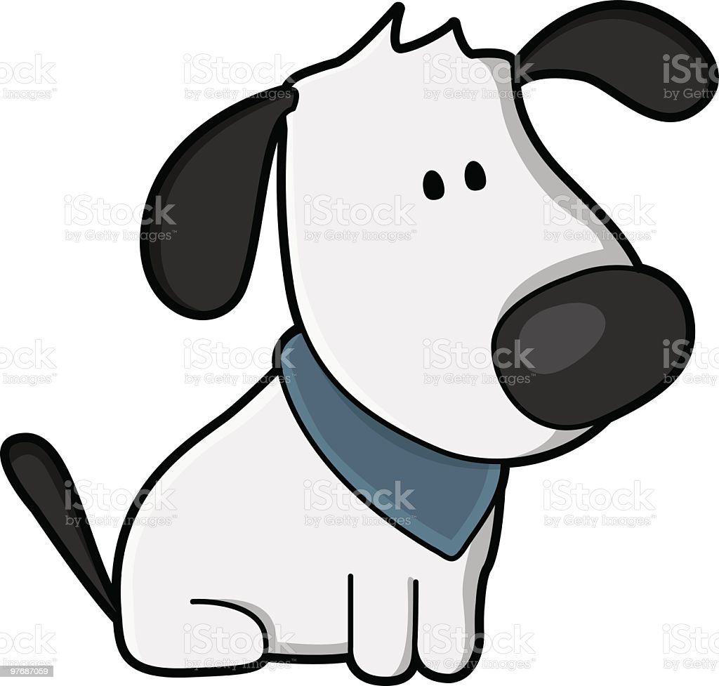Cute Dog Sit and Wait royalty-free stock vector art