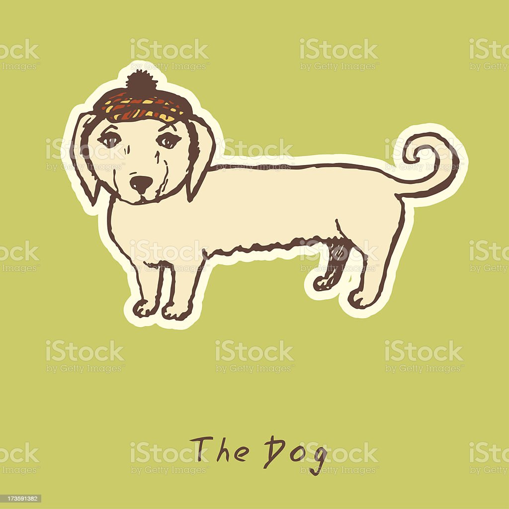 Cute dog vector illustration royalty-free stock vector art