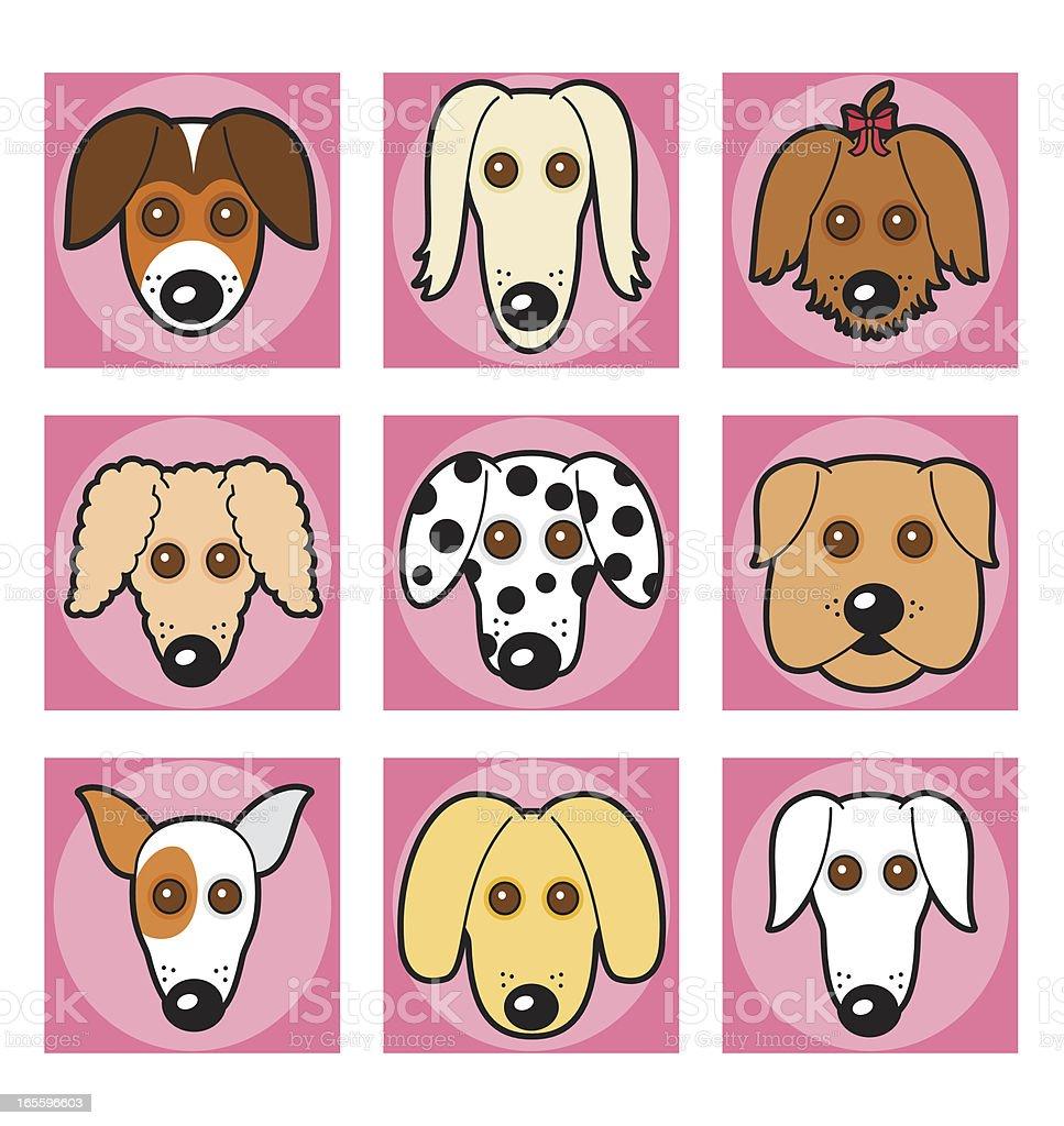 Cute Doggies vector art illustration