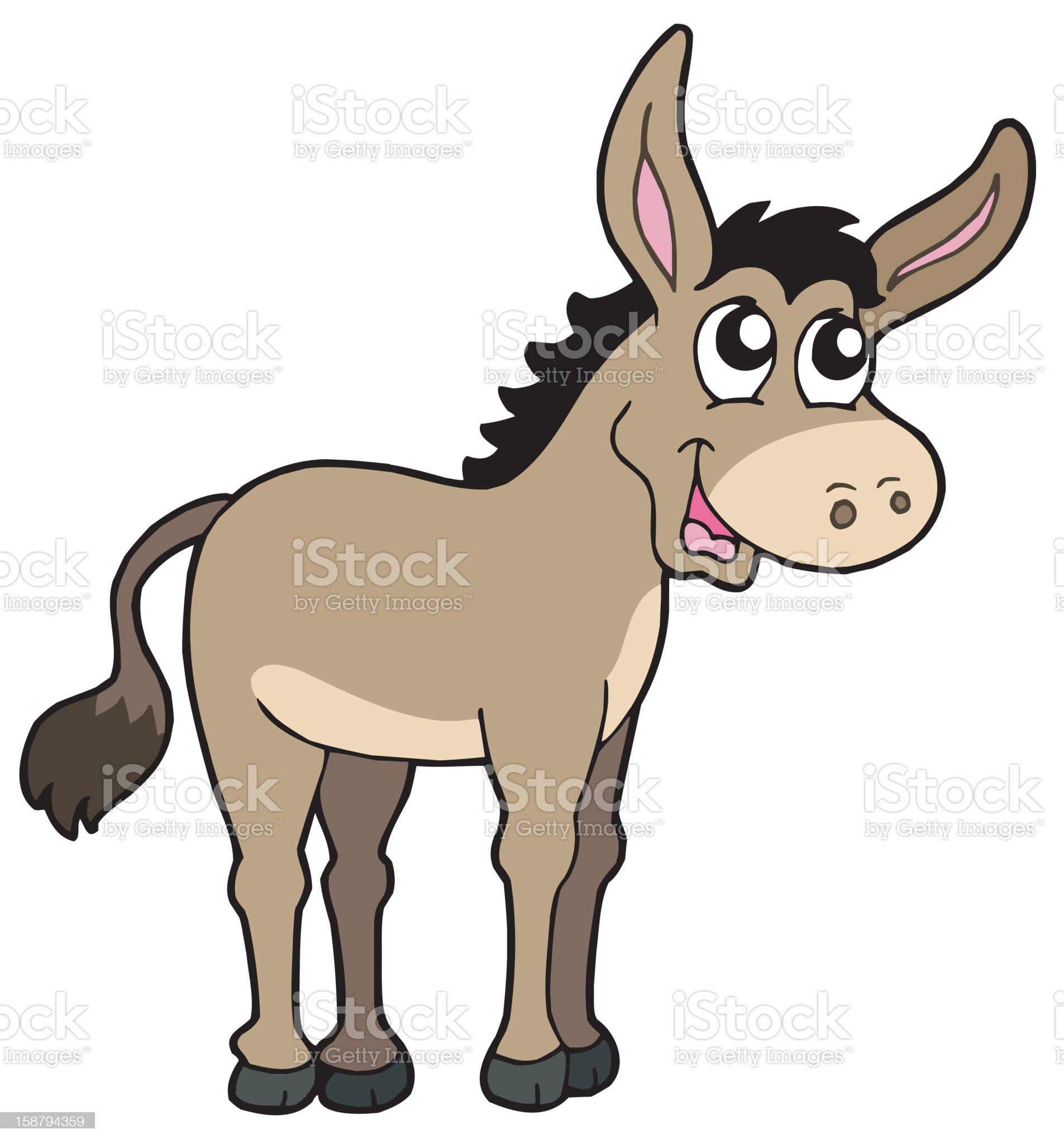 Cute donkey royalty-free stock vector art