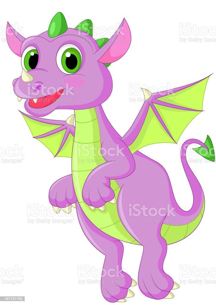 Cute dragon cartoon flying royalty-free stock vector art