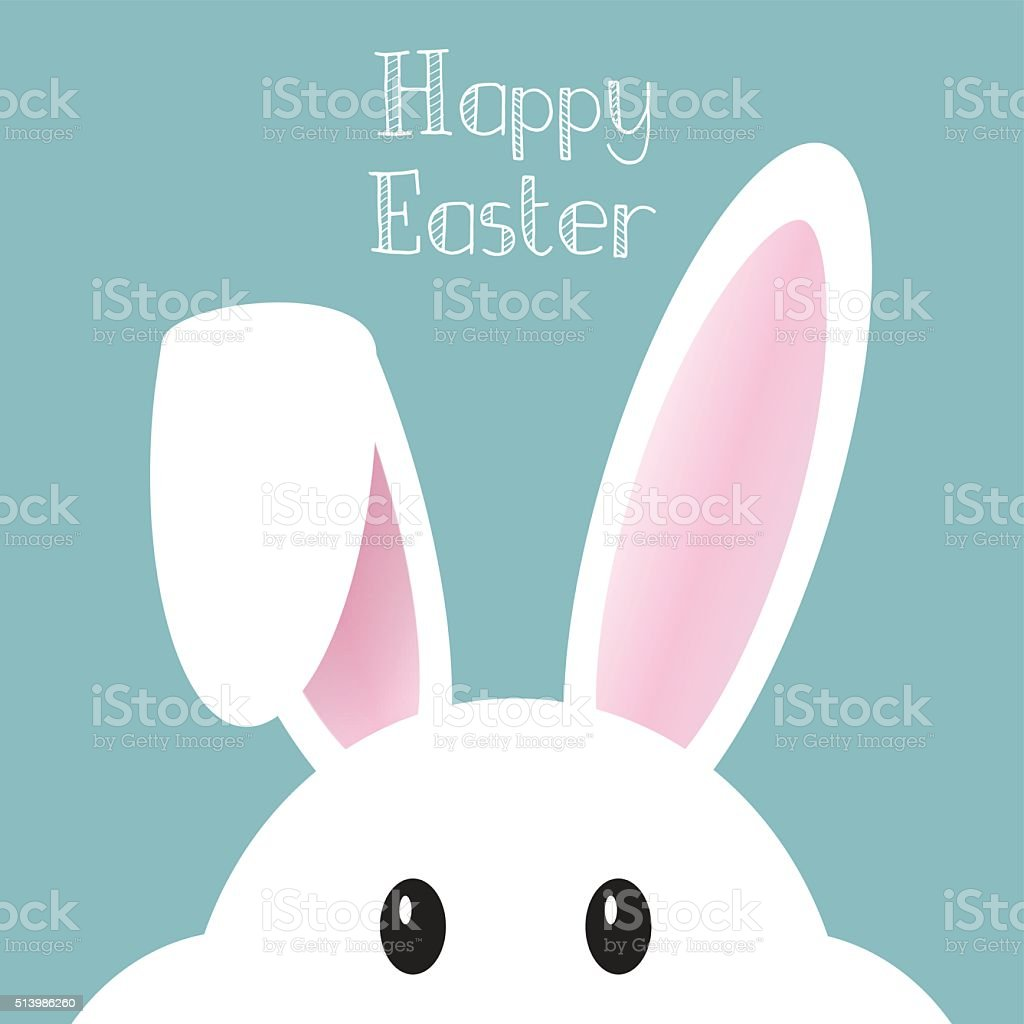 Cute Easter bunny background vector art illustration